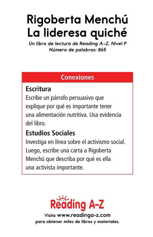 Book Preview For Rigoberta Menchú, La lideresa quiché Page 17