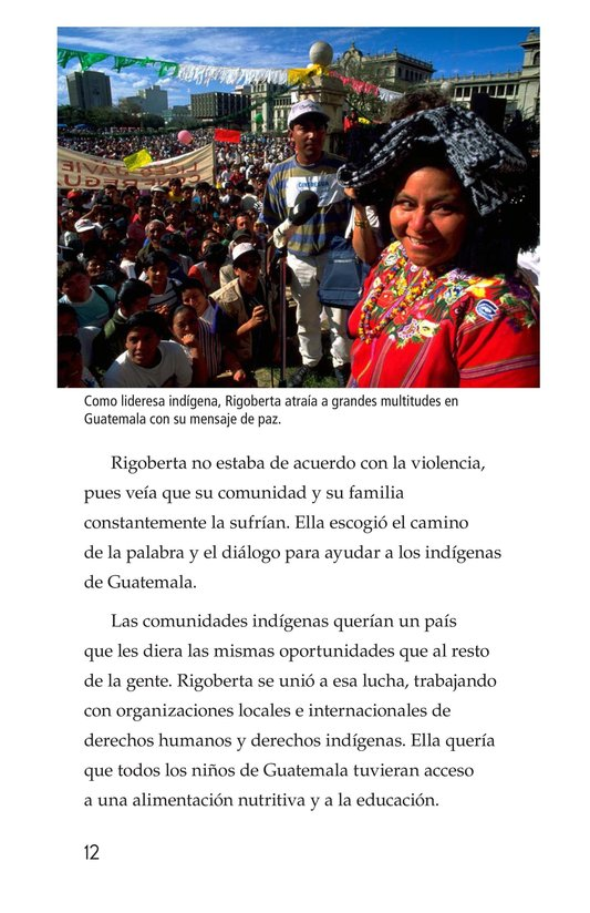 Book Preview For Rigoberta Menchú, La lideresa quiché Page 12