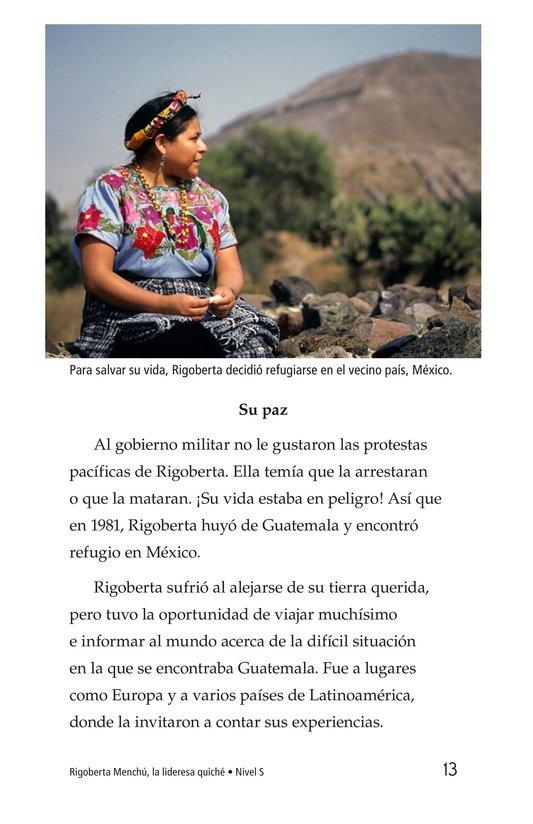 Book Preview For Rigoberta Menchú, La lideresa quiché Page 13