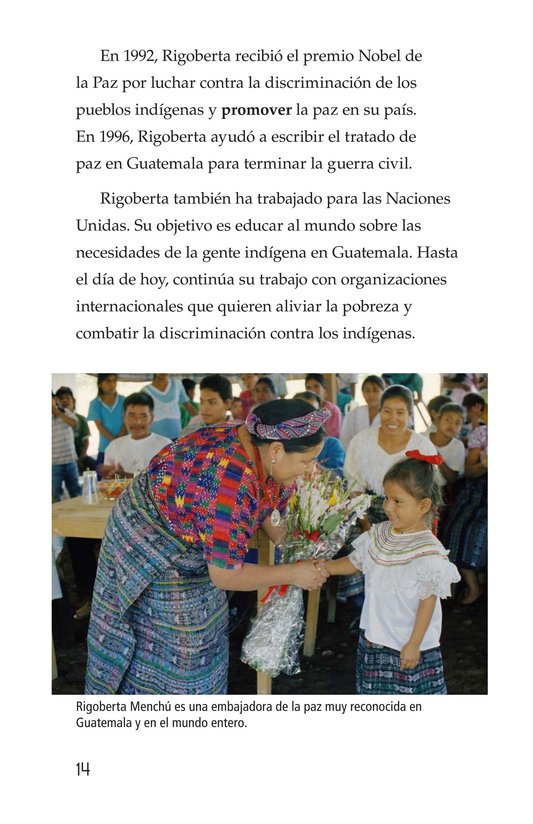 Book Preview For Rigoberta Menchú, La lideresa quiché Page 14