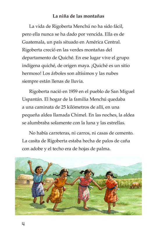 Book Preview For Rigoberta Menchú, La lideresa quiché Page 4