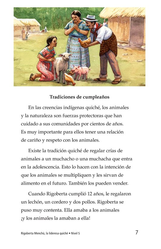 Book Preview For Rigoberta Menchú, La lideresa quiché Page 7