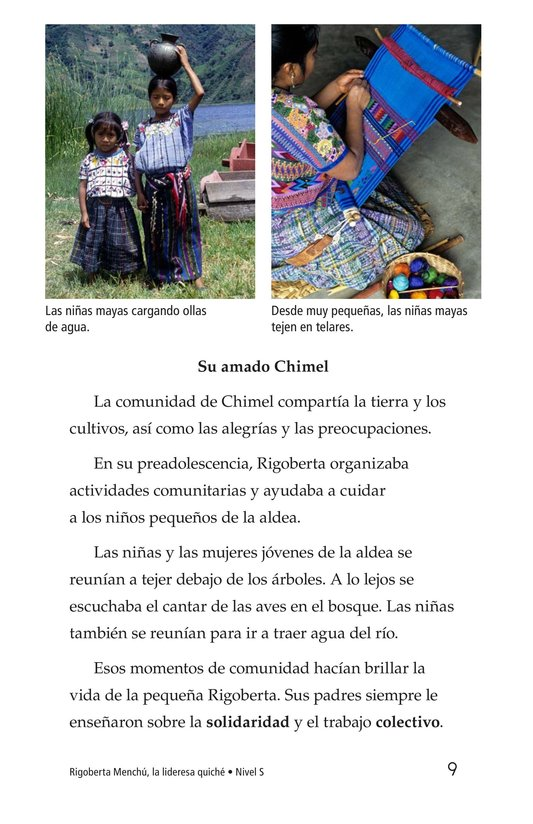 Book Preview For Rigoberta Menchú, La lideresa quiché Page 9
