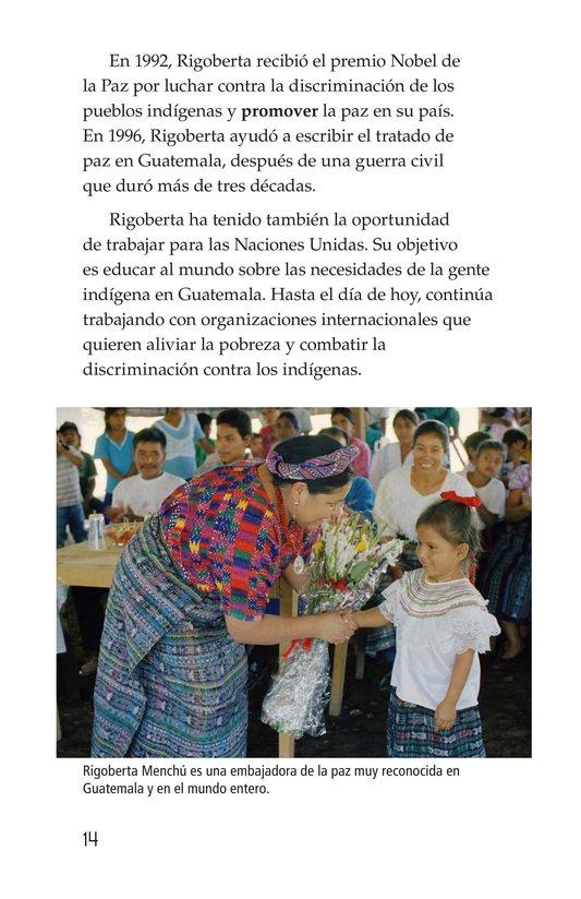 Book Preview For Rigoberta Menchú, La lideresa quiché Page 14