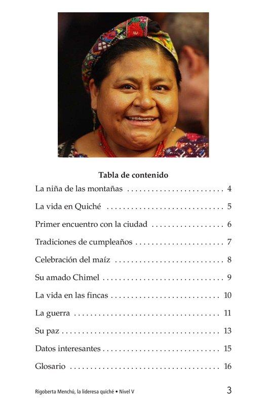 Book Preview For Rigoberta Menchú, La lideresa quiché Page 3