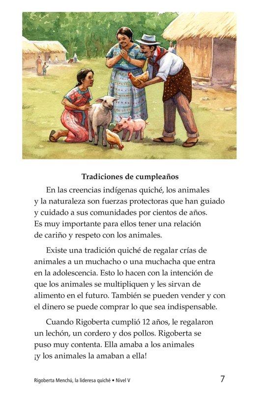 Book Preview For Rigoberta Menchú, La lideresa quiché Page 7