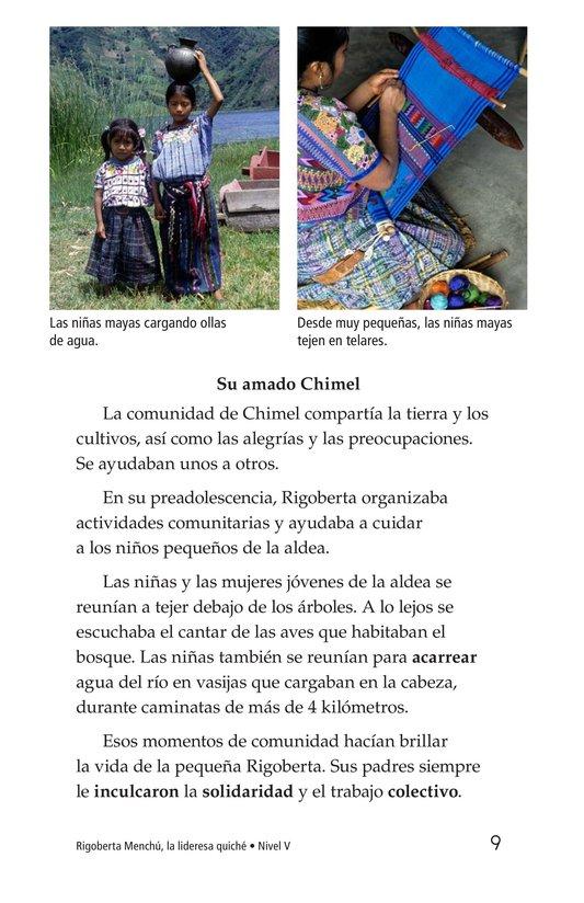 Book Preview For Rigoberta Menchú, La lideresa quiché Page 9