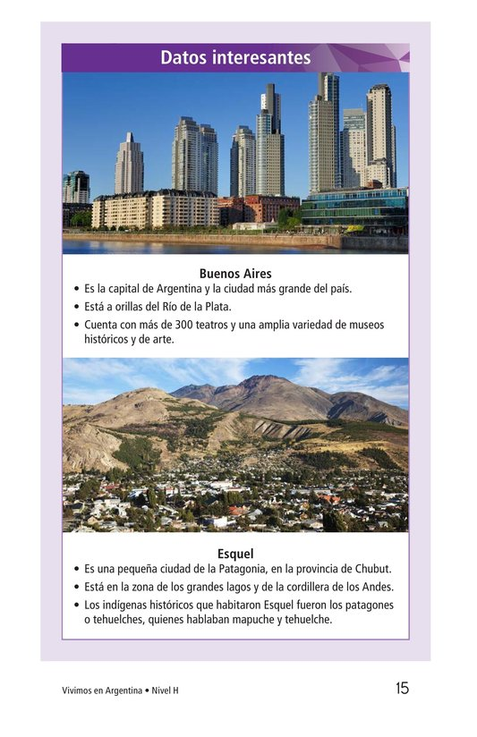 Book Preview For Vivimos en Argentina Page 15