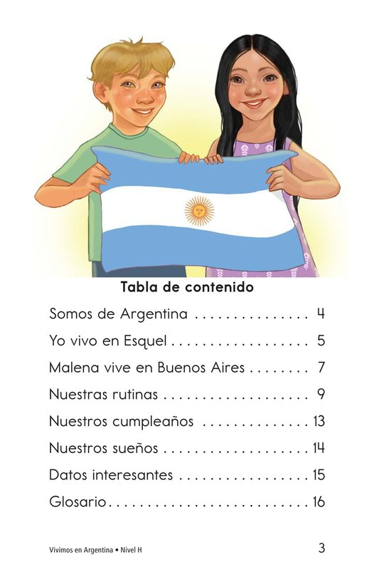 Book Preview For Vivimos en Argentina Page 3