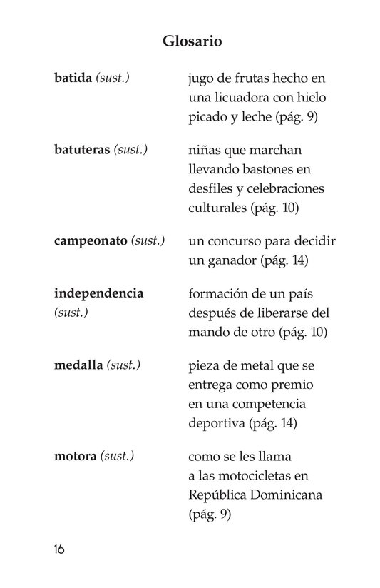 Book Preview For Vivimos en República Dominicana Page 16