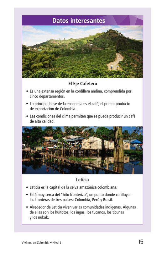 Book Preview For Vivimos en Colombia Page 15
