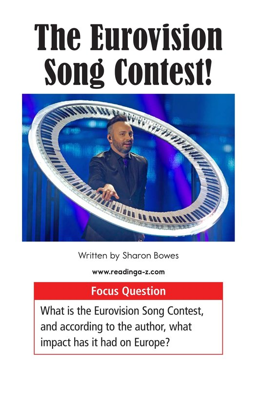 Book Preview For The Eurovision Song Contest! Page 1