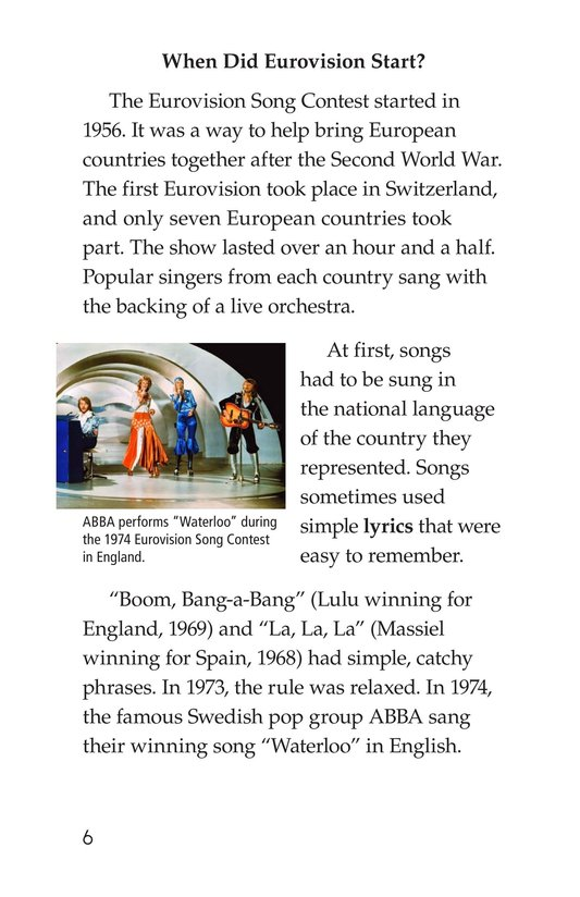 Book Preview For The Eurovision Song Contest! Page 6