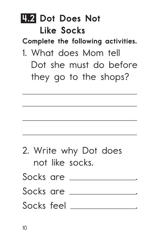 Book Preview For Decodable Passages Set 4 Book 1 Page 10