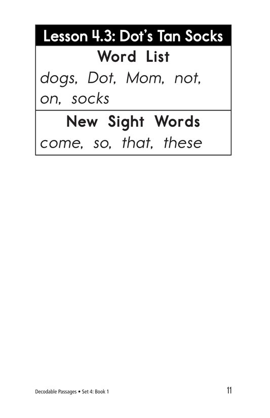 Book Preview For Decodable Passages Set 4 Book 1 Page 11