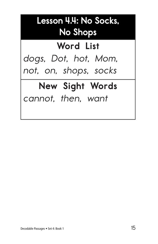 Book Preview For Decodable Passages Set 4 Book 1 Page 15