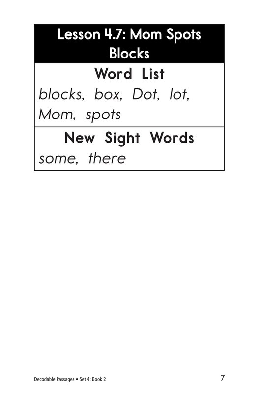 Book Preview For Decodable Passages Set 4 Book 2 Page 7
