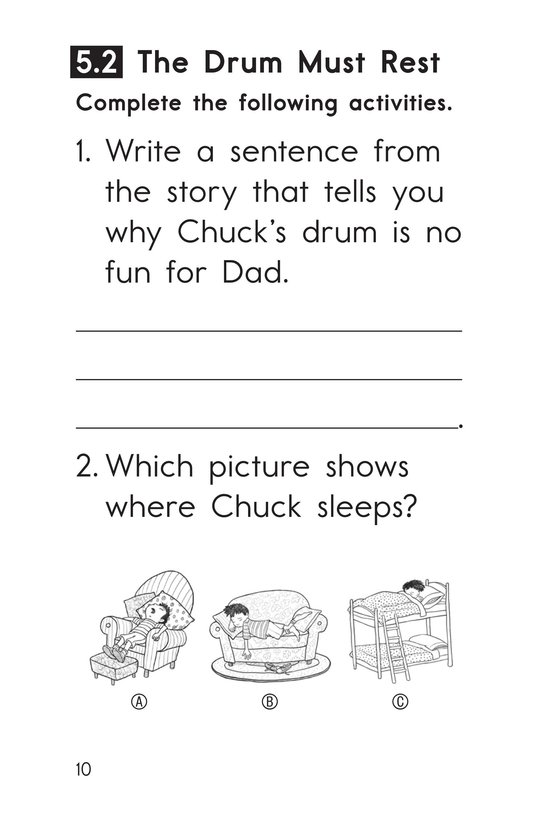 Book Preview For Decodable Passages Set 5 Book 1 Page 10