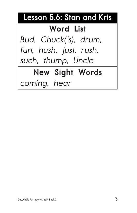 Book Preview For Decodable Passages Set 5 Book 2 Page 3