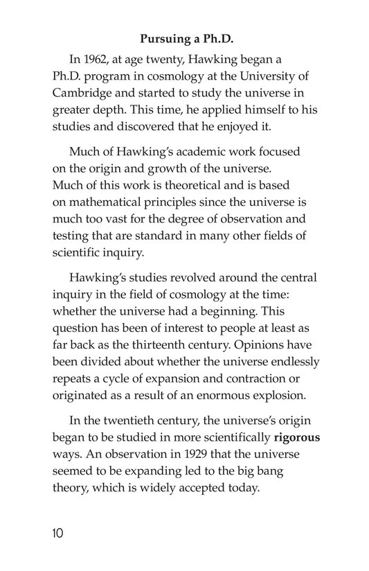 Book Preview For Stephen Hawking: Traveling Through the Universe Page 10