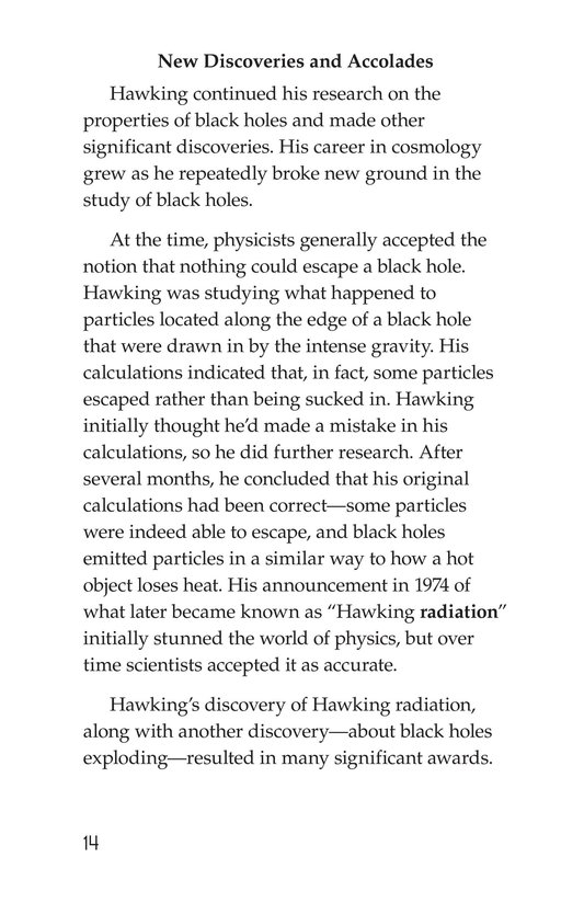 Book Preview For Stephen Hawking: Traveling Through the Universe Page 14