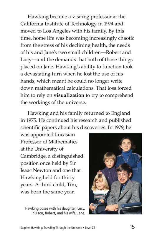 Book Preview For Stephen Hawking: Traveling Through the Universe Page 15