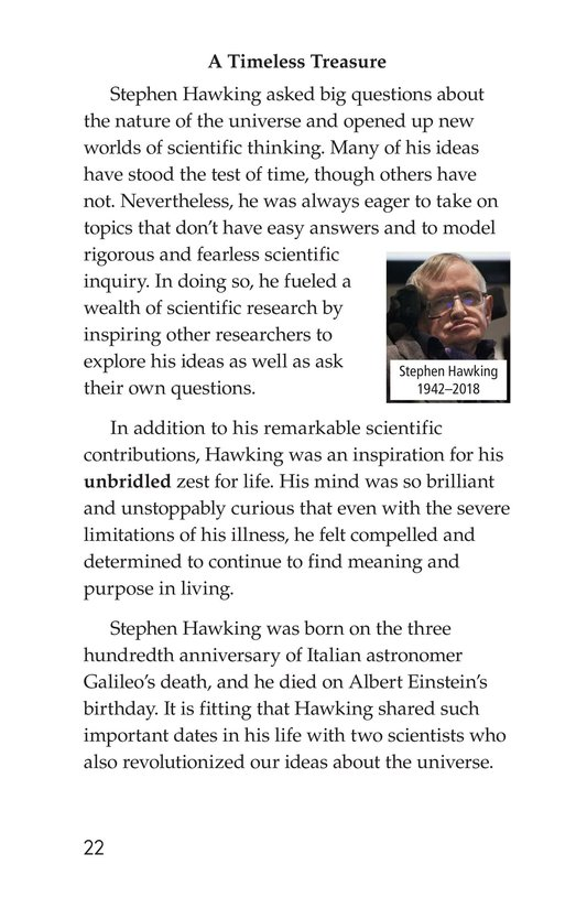 Book Preview For Stephen Hawking: Traveling Through the Universe Page 22