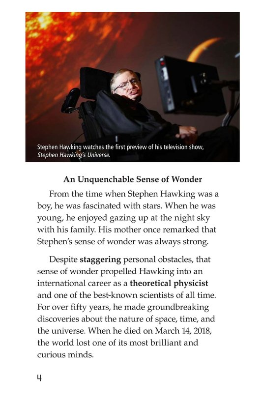 Book Preview For Stephen Hawking: Traveling Through the Universe Page 4