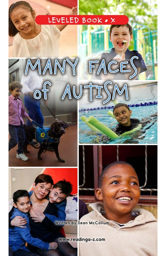 Book Preview For Many Faces of Autism Page 0