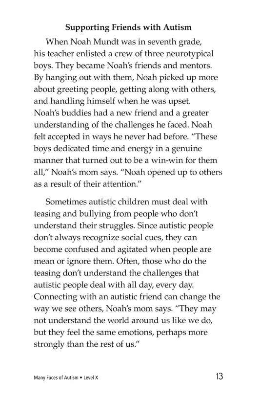 Book Preview For Many Faces of Autism Page 13