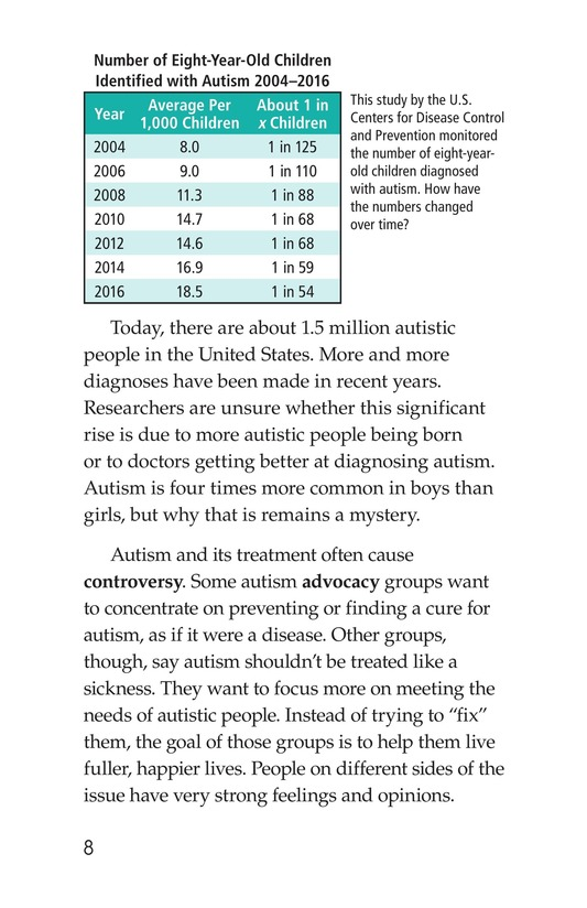 Book Preview For Many Faces of Autism Page 8