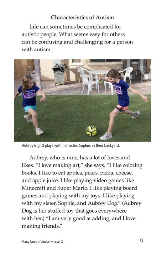 Book Preview For Many Faces of Autism Page 9