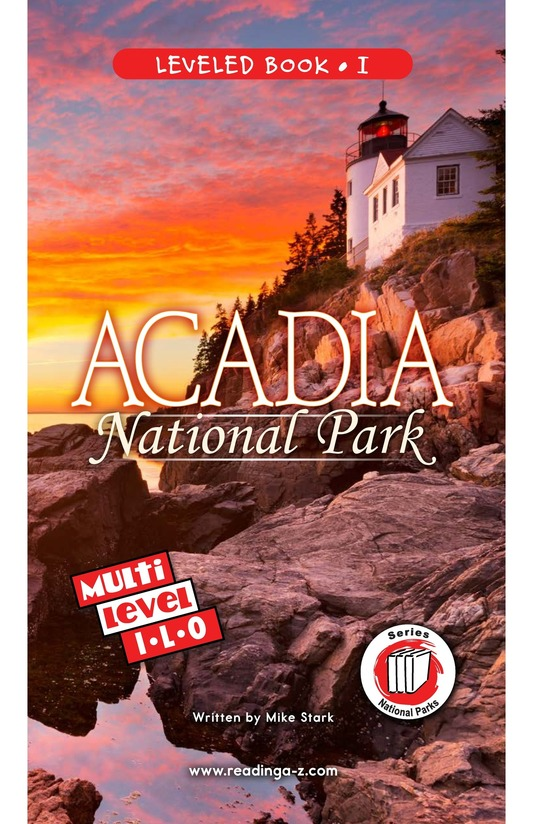 Book Preview For Acadia National Park Page 0