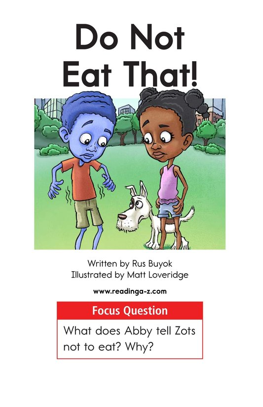 Book Preview For Do Not Eat That! Page 1