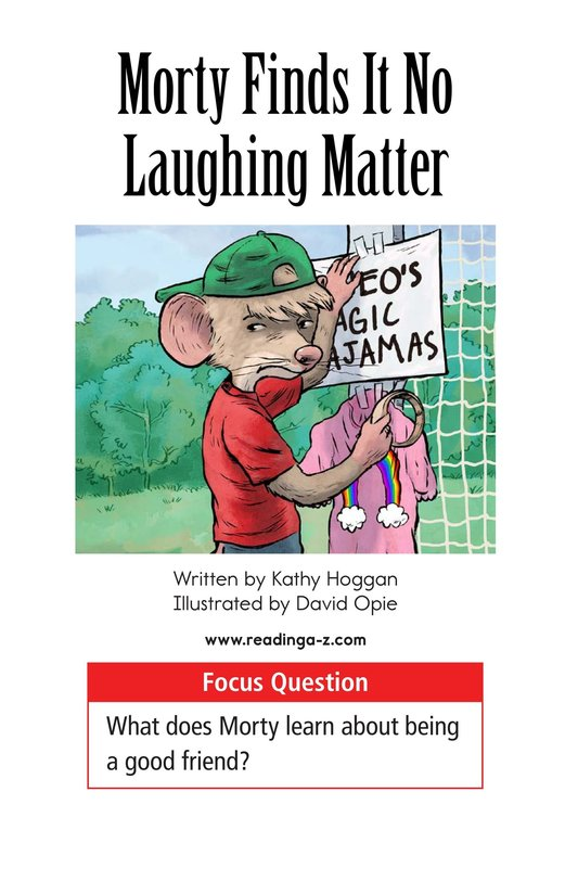Book Preview For Morty Finds It No Laughing Matter Page 1