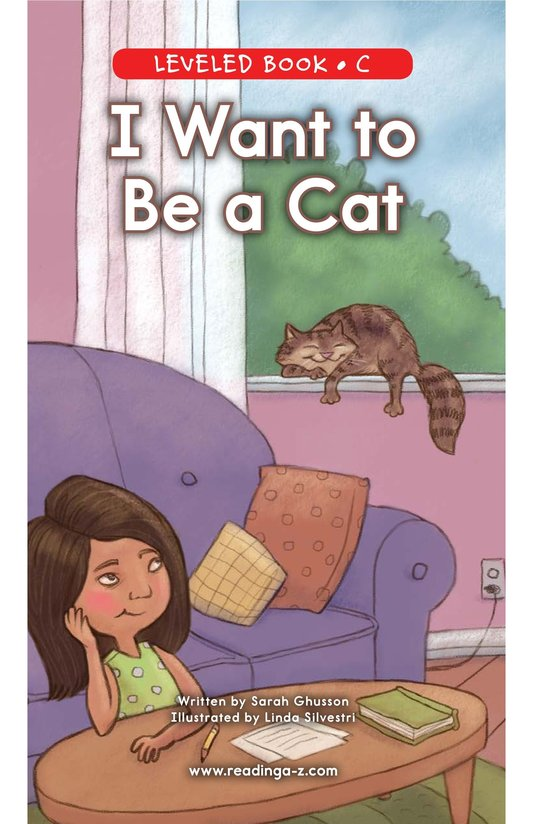 Book Preview For I Want to Be a Cat Page 0