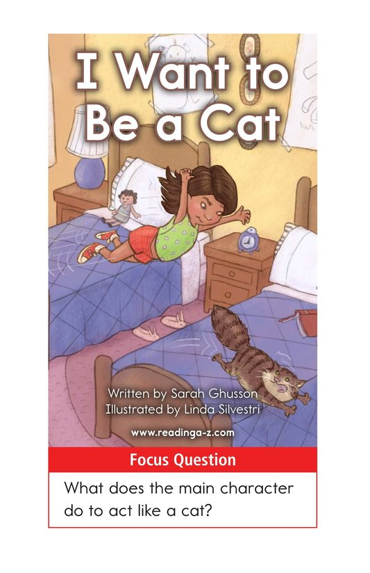 Book Preview For I Want to Be a Cat Page 1