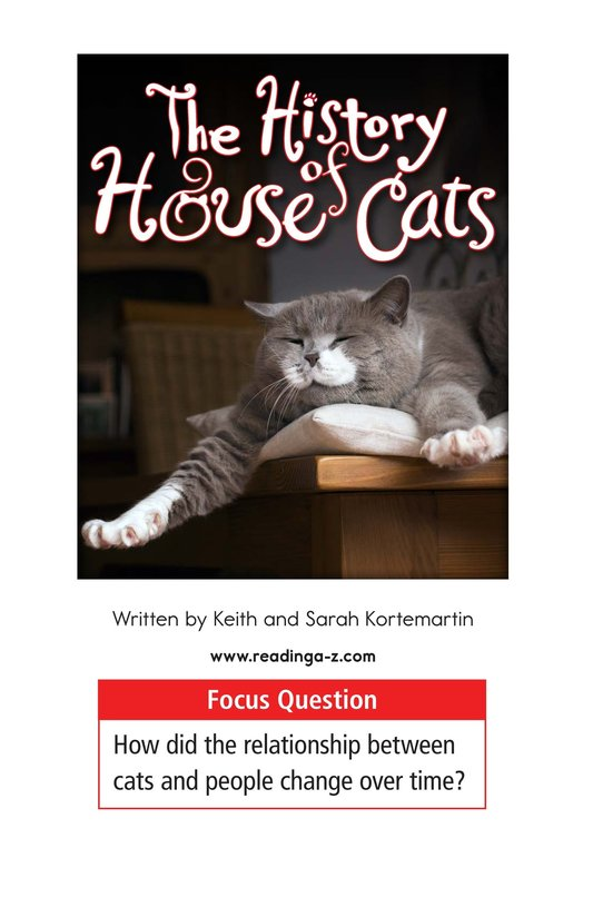 Book Preview For The History of House Cats Page 1