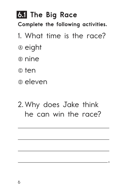 Book Preview For Decodable Passages Set 6 Book 1 Page 6