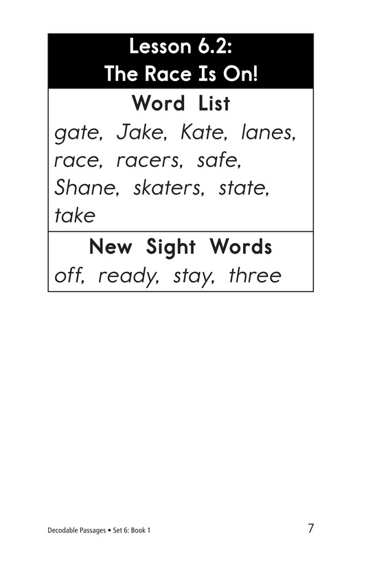 Book Preview For Decodable Passages Set 6 Book 1 Page 7