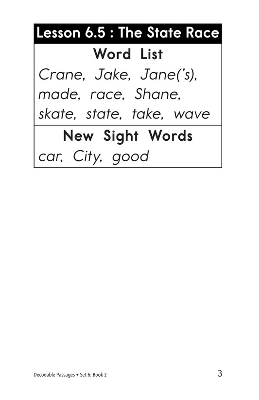 Book Preview For Decodable Passages Set 6 Book 2 Page 3