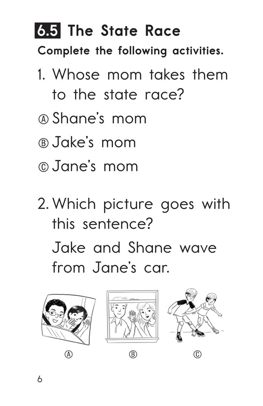 Book Preview For Decodable Passages Set 6 Book 2 Page 6