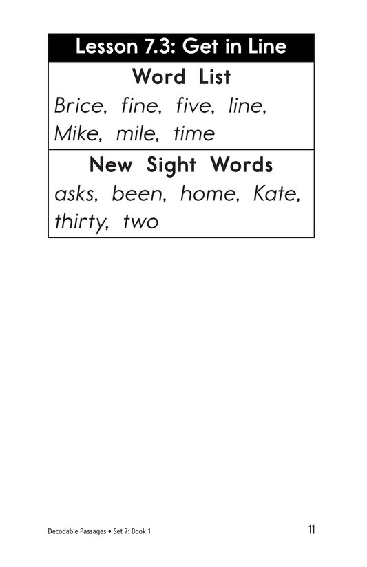 Book Preview For Decodable Passages Set 7 Book 1 Page 11