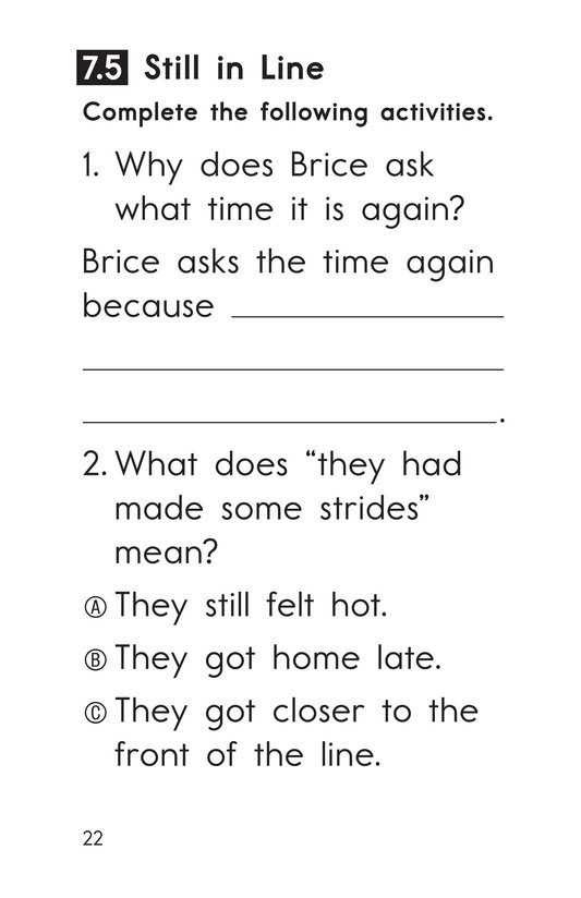 Book Preview For Decodable Passages Set 7 Book 1 Page 22