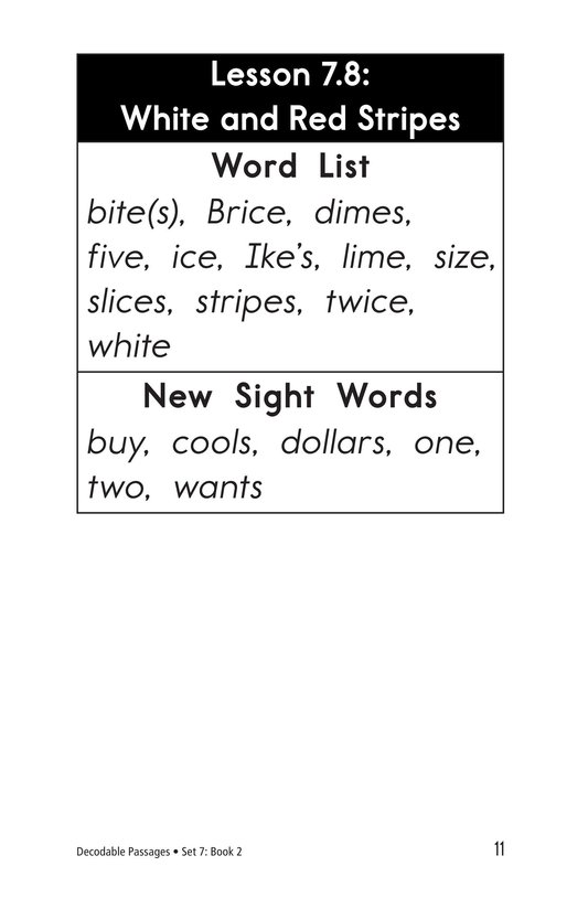 Book Preview For Decodable Passages Set 7 Book 2 Page 11