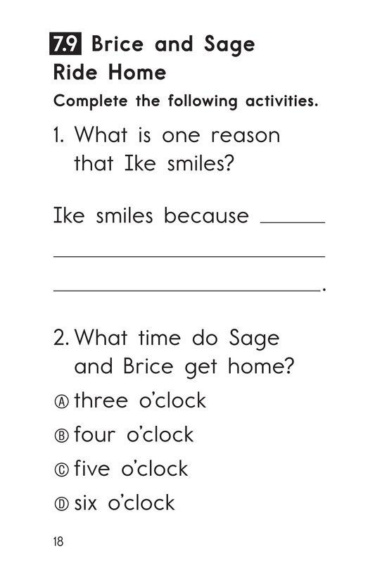 Book Preview For Decodable Passages Set 7 Book 2 Page 18