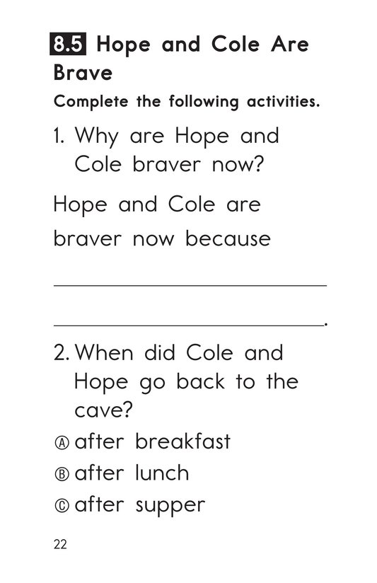 Book Preview For Decodable Passages Set 8 Book 1 Page 22