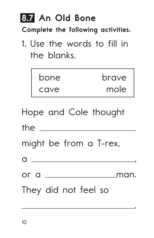 Book Preview For Decodable Passages Set 8 Book 2 Page 10