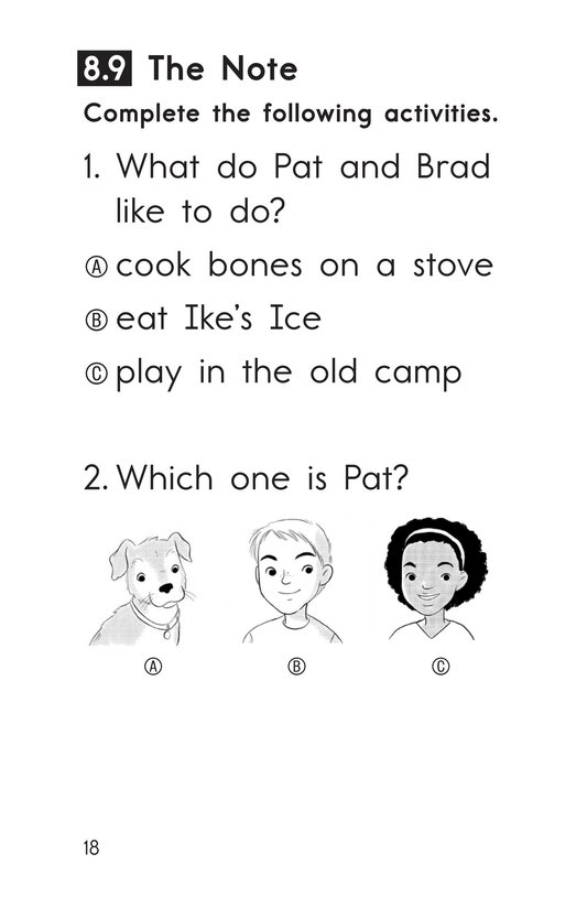 Book Preview For Decodable Passages Set 8 Book 2 Page 18
