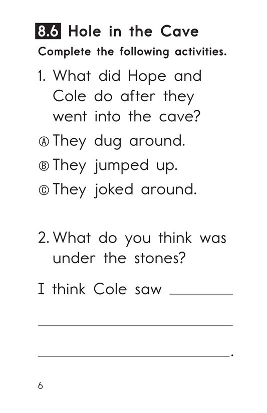 Book Preview For Decodable Passages Set 8 Book 2 Page 6
